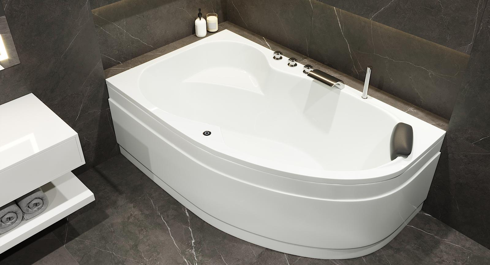Asymmetrische Badewanne Mainz
