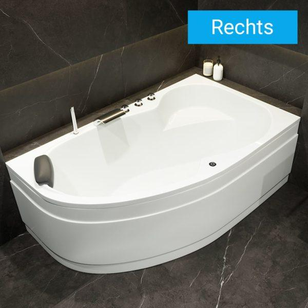 Acryl Raumspar Badewanne Mainz 160 x 100, 170 x 100 cm Rechts
