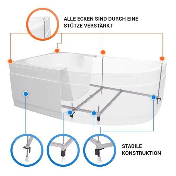 Raumspar Badewanne Mainz Komplett Set