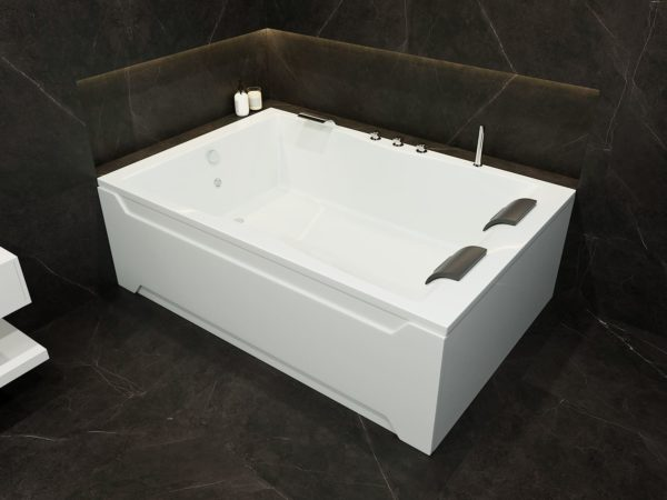 Acryl Doppel-Badewanne 180 x 120 cm für 2 Personen nebeneinander