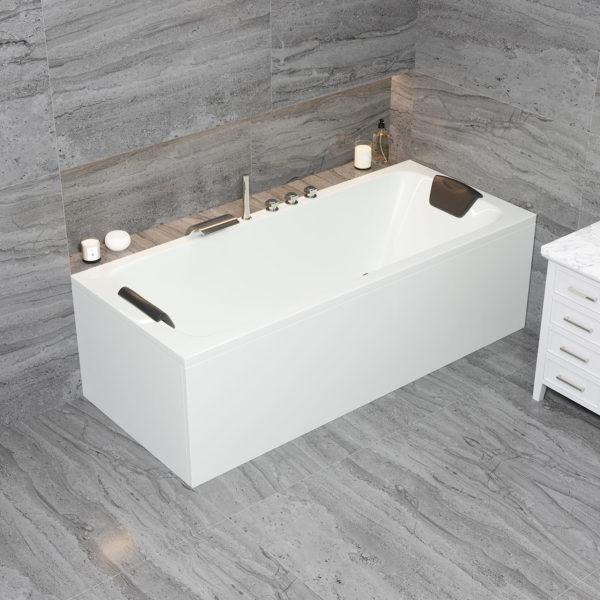 Acryl Rechteck Badewanne Bonn für 2 Personen Körpergröße 170 x 70 cm