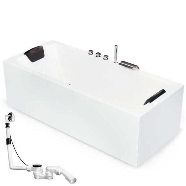 Rechteckige Badewanne Model Bonn Körpergröße 170 х 70 / 180 х 80 cm