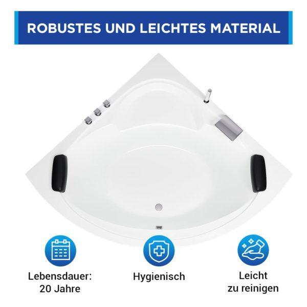 Eckbadewanne Freiburg aus Sanitäracryl