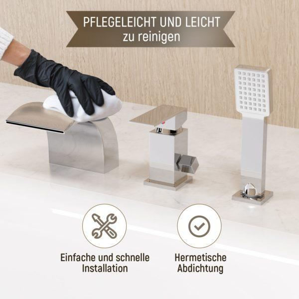 Integrierte Armatur für Badewanne