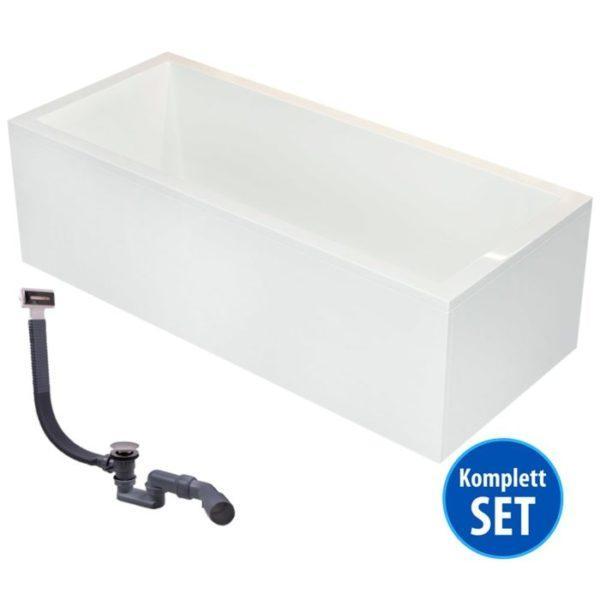 Rechteck-Badewanne Neu-Ulm Komplett-Set