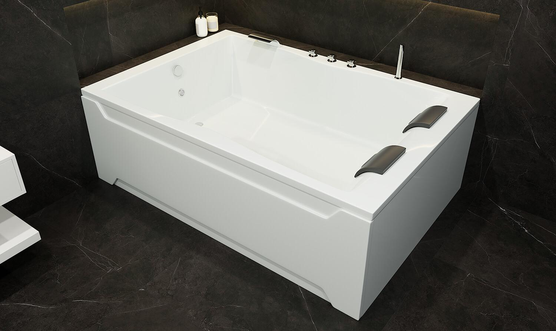 Acryl Rechteckbadewanne Hamburg extra breit 180x120