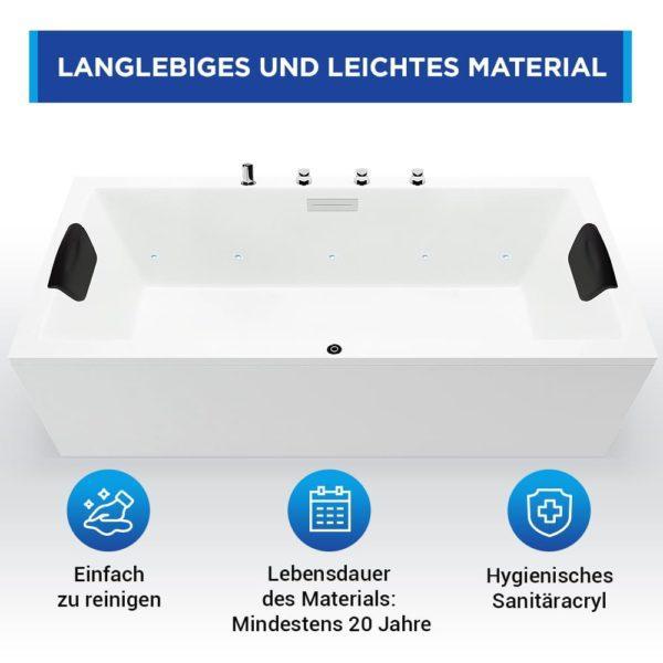 Rechteckbadewanne Neu Ulm aus Sanitäracryl