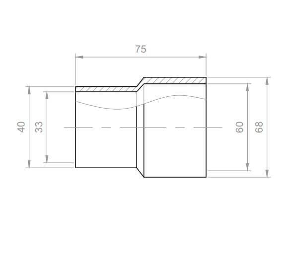 Whirlpool Verbindungsstück Reduzierung PVC Innen 60x32mm