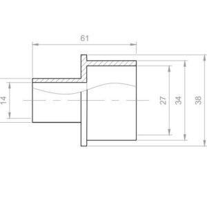 Whirlpool Übergangsstück Reduzierung PVC Aussen 20x33 mm