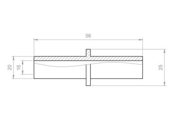 Whirlpool Übergangsstück Reduzierung PVC Aussen 20x20 mm