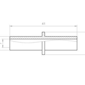 Whirlpool Reduzierung Übergangsstück PVC Aussen 10x10 mm