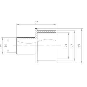 Whirlpool Reduzierung Übergangsstück PVC Aussen 27x20 mm
