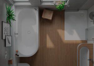 Badewanne Form und Maße