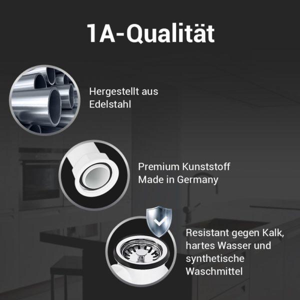 """Ablaufgarnitur mit Excenterbetätigung 70 mm (1 1/2"""") für Spüle"""