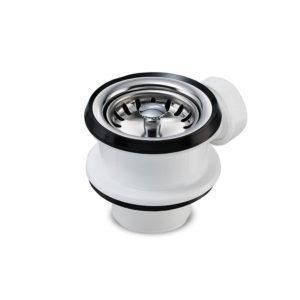 Siebkorbventil Ø 70 mm mit 1 Zoll Überlauf-Anschluss für Spüle