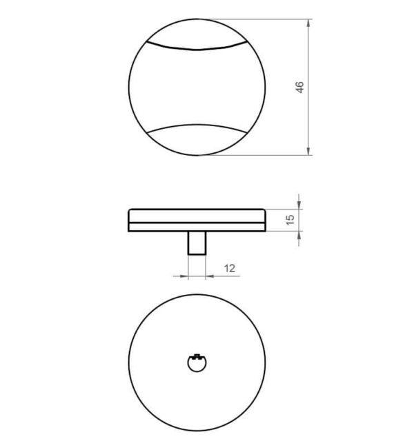 Drehknopf aus Edelstahl 46mm für Drehexcenter Spüle