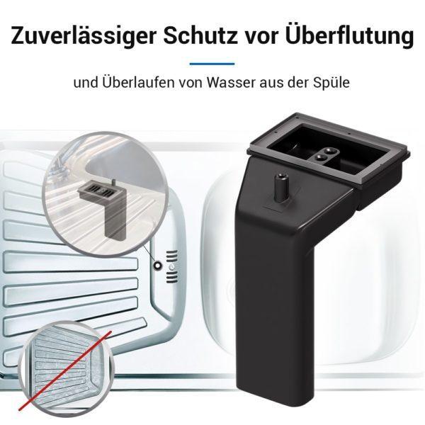 Spülenüberlauf Anschluss mit rechteckigem Überlaufloch für Spüle