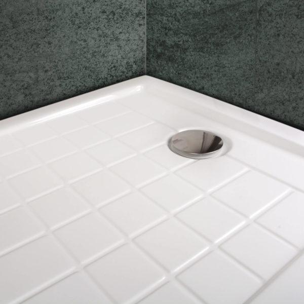Ablaufgarnitur 116 mm / 90 mm flach für Dusche Duschwanne