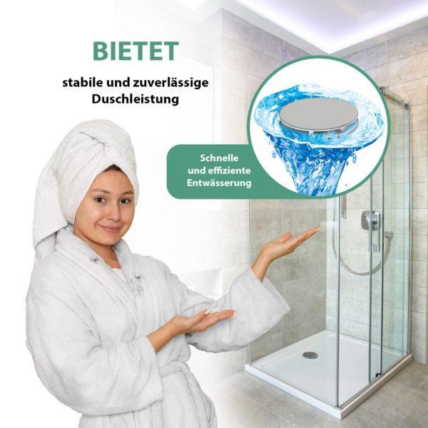 Ablaufgarnitur für Dusche 90mm