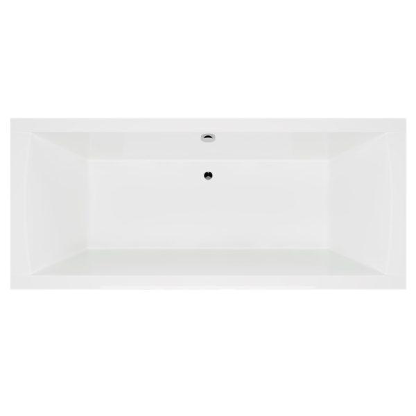 Acryl Rechteck Badewanne 190 Komplett-Set mit Schürze, Gestell und Ablaufgarnitur