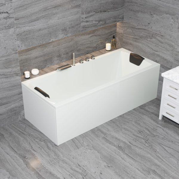 Acryl Rechteck-Badewanne Bremen für 2 Personen Körpergröße 180 x 80 cm