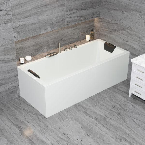 Große Acryl Rechteck Badewanne Ulm Körpergröße 190 x 90 cm