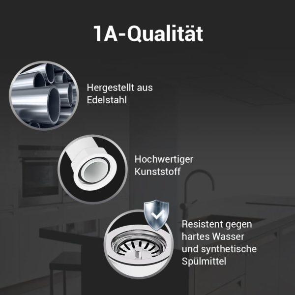 Siebkorbventil 114mm mit Überlauf für Küchenpüle